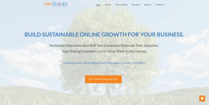 Keyscouts new homepage