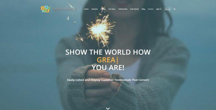 Spectoos Homepage