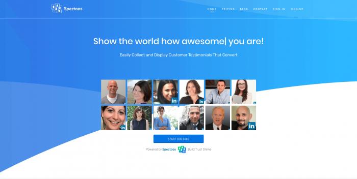 Spectoos Inc. Homepage