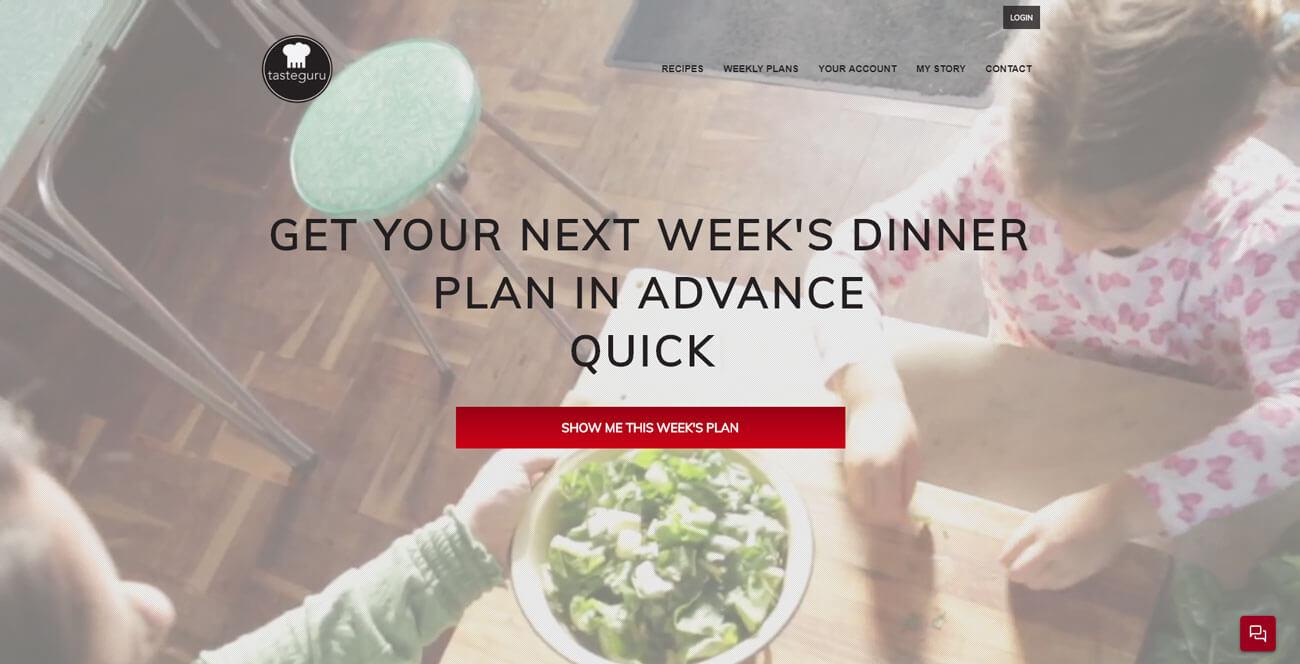 TasteGuru Homepage